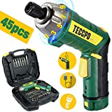 Atornillador Eléctrico 6N.m, TECCPO Destornillador Eléctrico, 45 Accesorios, 9 Torsión Ajustable,...