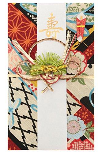 《ネコポス対応》(キステ)Kisste 小風呂敷 祝儀袋 5-6-01352 【C】エンジ (1365)