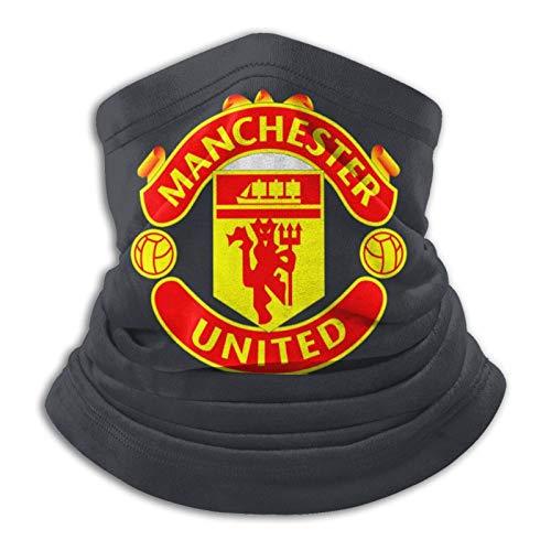 Manchester United - Pasamontañas unisex multifuncionales a prueba de polvo, para deportes al aire libre, 25,4 x 27,6 cm