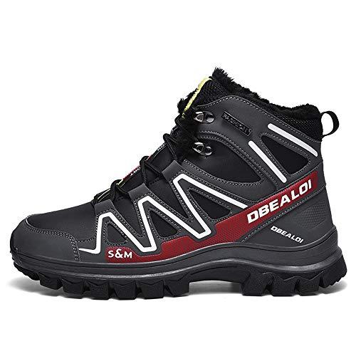 Zapatillas de ciclismo para hombres, Botas de bicicleta de montaña cálidas impermeables...