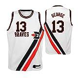 Wo nice Camisetas De Baloncesto para Hombre, Los Angeles Clippers # 13 Paul George NBA Baloncesto Tops Tops Chalecos Casuales Sin Mangas Deportivas Camisetas,Blanco,XL(180~185CM)