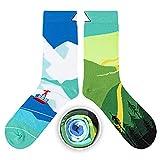 CUP OF SOX Bunte Lustige Socken für Männer und Frauen, Geschenksocken mit Lustigen Mustern im Pappbecher (Berg, 37-40)
