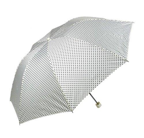 Vert clair à pois parapluie automatique parapluie compact Patio
