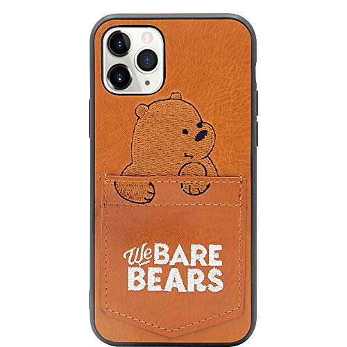 MC Fashion iPhone 11 Pro Case, Cute Cartoon Bears Characters Wallet Case with Card ID Slot, Ultra Slim PU Leather Protective Case for Apple iPhone 11 Pro 5.8 inch 2019 (Grizzly)
