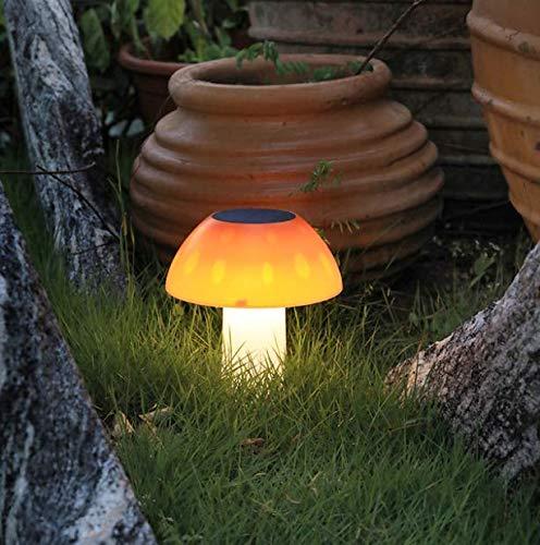 Houdeyouhaishengwu Luz De Césped Led Luz De Enchufe De Jardín Al Aire Libre Decoración De Jardín Solar Paisaje Luz De Calle Luz Solar De Seta