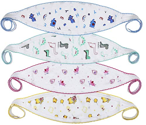 ToBeInStyle Babies' 4-Pack Comfortable Newborn Baby Belly Binder - Assorted Print - One Size