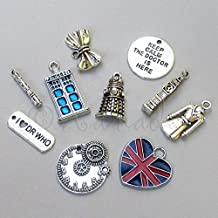 Doctor Who Wholesale Tardis Dalek Union Jack Charms Mix Jewelry Making Supply Pendant Bracelet DIY Crafting by Wholesale Charms (20)