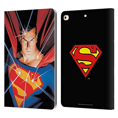 Head Case Designs Officially Licensed Superman DC Comics Alex Ross Mythology Famous Comic Book Covers Leather Book Wallet Case Cover Compatible with Apple iPad 9.7 2017 / iPad 9.7 2018