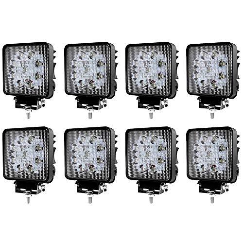 LED Scheinwerfer Arbeitsscheinwerfer Arbeitslicht SUV Offroad IP67 Reflektor Rückfahrscheinwerfer ATV, UTV, Offroad, Traktor, LKW (8 pcs 27W)