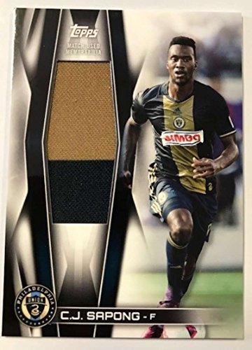 2018 Topps MLS Soccer Jumbo Relics #JR-CS C.J. Sapong Jersey/Relic Philadelphia Union