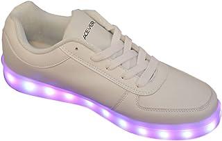 Chaussures de sport avec lumières LED multicolores super lumineuses pour femme
