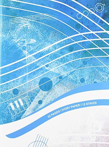 Muziekboekje - 12 lijnen, 32 pp, ivoorkleurig papier