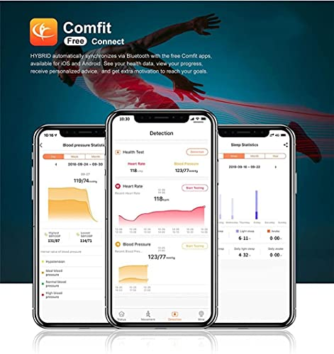 Reloj inteligente impermeable 5ATM Bluetooth monitor de sueño recordatorio de mensajes deportes hombres y mujeres reloj inteligente-A