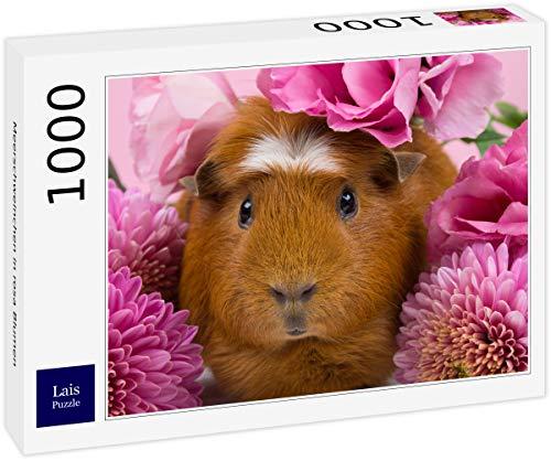 Lais Puzzle Meerschweinchen in rosa Blumen 1000 Teile