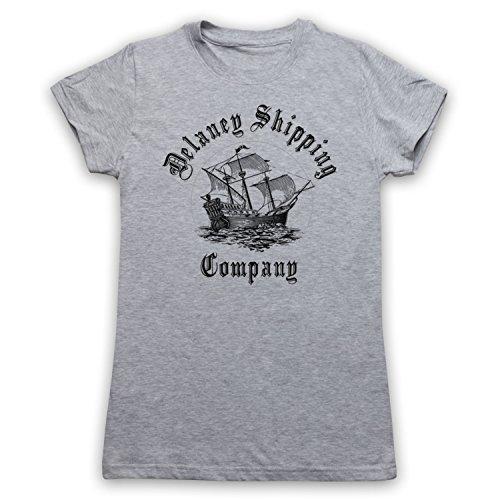Taboo Delaney Shipping Company Damen T-Shirt, Grau, Medium