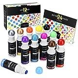 Magicfly Dot Rotuladores Lavables 12 Colores, Marcadores con Punta de Esponja Redonda, Pintura Lavable para Niños, con Cuaderno de Dibujos