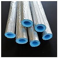 LINGOSHUN アルミホイル付きパイプ断熱チューブ、長さ1.5mのパイプフォーム断熱材、冷水凍結防止エアコン断熱パイプ/青 / 16mm ID