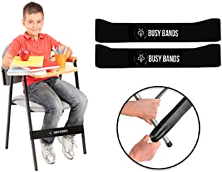 Busy Bands : Chair Bands for Kids with Fidgety Feet : Fidget Bands for School Classroom Chairs, Ideal for ADHD, Autism, Hyperactivity : Size: 20