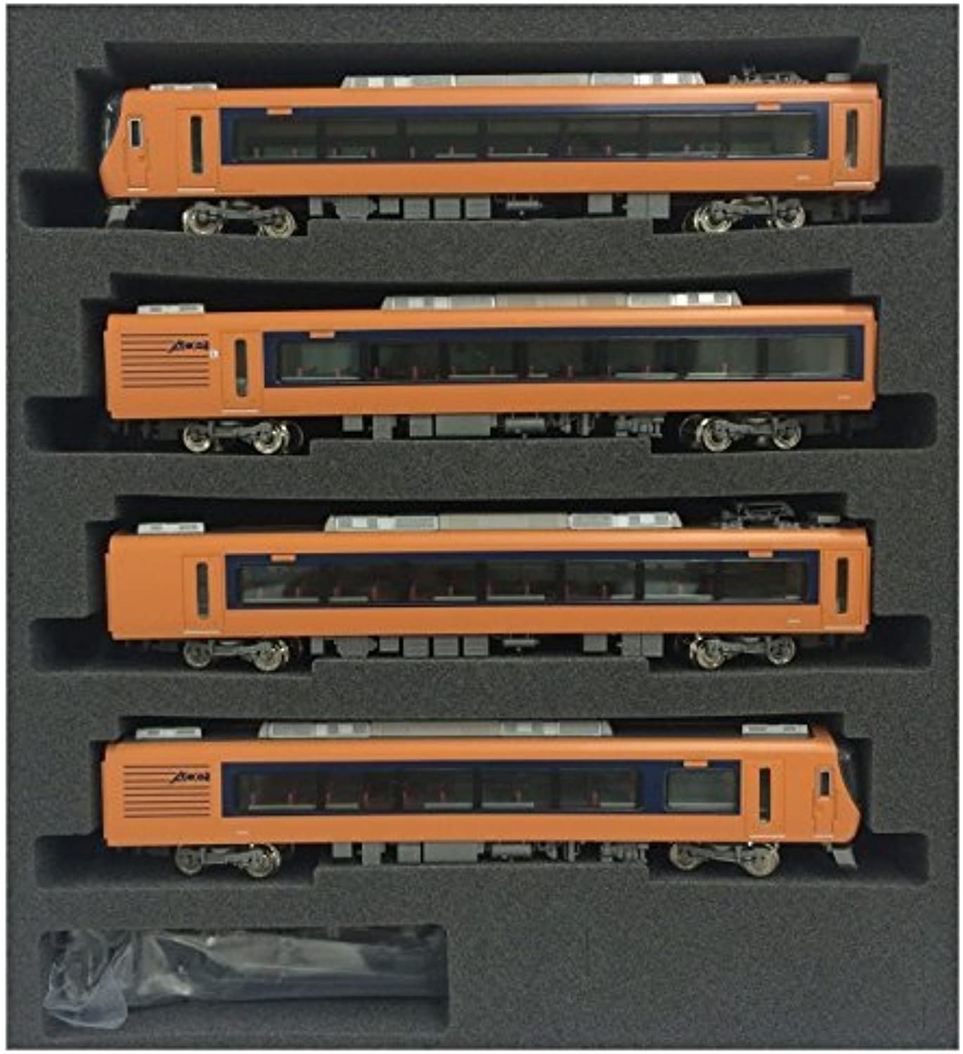 Kintetsu Series 22600 [Ace] Additional 4Car Formation Set (Trailer Only) (AddOn 4Car Set) (Model Train) by Greenmax