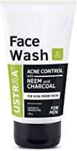 Ustraa Face Wash Acne Control, Neem and Charcoal, 100 g