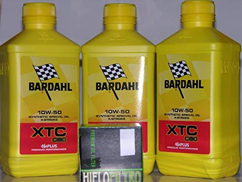 3 LT OLIO motore 4t BARDAHL XTC C60 10W50 + FILTRO OLIO
