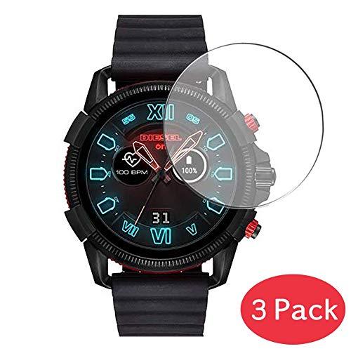 Vaxson 3 Stück 9H Panzerglasfolie für Diesel On Full Guard 2.5 Panzerglas Schutzfolie Displayschutzfolie Bildschirmschutz Intelligente Uhr Armband Smartwatch