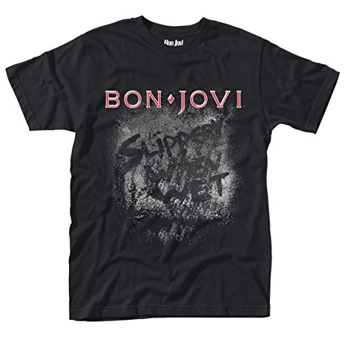 Bon Jovi 'Slippery When Wet Album' (Black) T-Shirt (Medium)