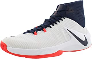 Men's Zoom Clear Out Basketball Shoes - White/Obsidian-Bright Crimson