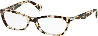 Prada VPR 15PVA Eyeglasses 55-16-135 Spotted Opal Brown w/Demo Clear Lens UAO1O1 PR 15PV PR15PV VPR15PVA
