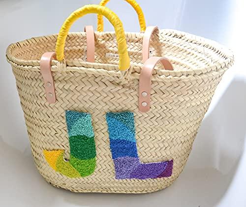 Capazo Artesanal Jubaea - cesto o bolso de mimbre para playa