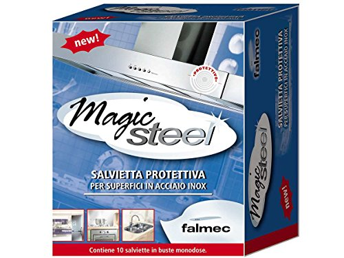 FALMEC Reinigungstücher Magic-Steel | Edelstahl-Reinigung & Pflege | KACL.815 | 10 Stück
