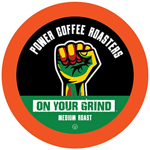Power Coffee Roasters Medium Roast Coffee Pods Compatible with Keurig K Cup Brewers Medium Roast 12 Count