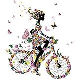 Manyo DIY Mädchen Fahrrad fahren Stickerei Applikation Für Decoreting und Patching Jacket,...