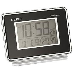 Seiko CLOCK clock 2-channel alarm temperature and humidity radio digital alarm clock (black) SQ767K