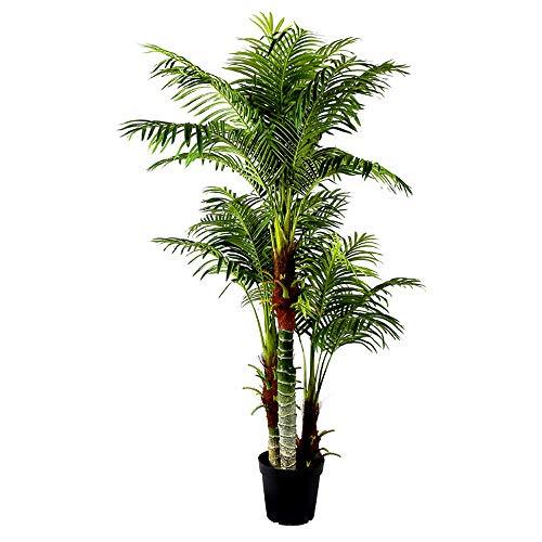 Arnusa Große Künstliche Palme Deluxe 180cm mit 3 Stämmen und 26 Palmenwedel Kunstpflanze Kunstpalme Zimmerpflanze - 3