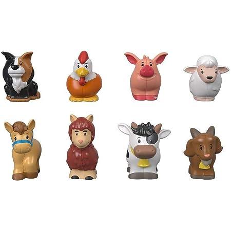 Fisher-Price Little People 8 Figurines des Animaux de la Ferme, Jouet Enfant 12 Mois et Plus, GFL21
