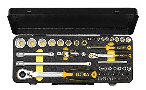 Elora 714-6MU OMS Steckschlüssel-Satz 1/4 + 1/2 Zoll, 6-kant, 46-teilig