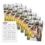 Fotoprix Calendarios de bolsillo personalizados con tu foto | Pack de 8 unidades | Calendarios de cartera 2021 | Calendario 2021 de bolsillo | Calendario con fotos | Tamaño: Vertical (6,5 x 9,5 cm)