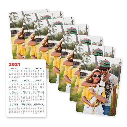 Fotoprix Calendarios de bolsillo personalizados con tu foto | Pack de 8 unidades | Calendarios de...