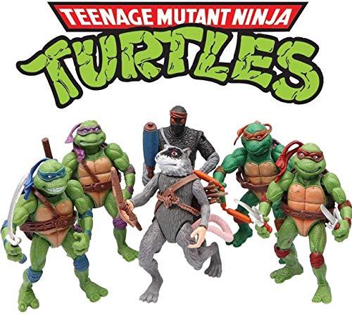6pcs Set Ninja Turtles TMNT Action Figures 4.72 inch Teenage Mutant Ninja Turtles Action Figures Toys Set Leo Raph Mikey Don Splinter Casey Toys