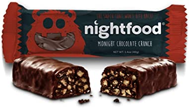 NightFood: Nutrition Bars for Better Night Snacking, 12-Pack, Midnight Chocolate Crunch Flavor