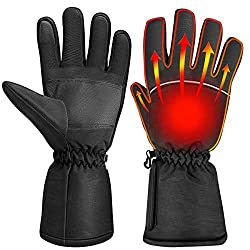 CLISPEED Heated Gloves Winter Heated Hand Warmer Touchscreen Ski Gloves for Skiing Bicycle Cycling Motorcycle Hiking