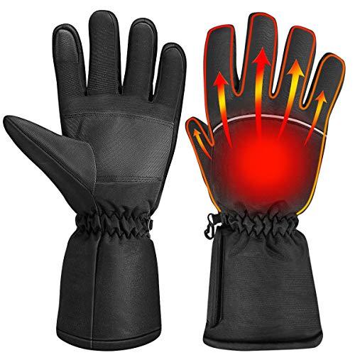 CLISPEED Beheizbare Handschuhe Winter Beheizt Handwärmer Touchscreen Skihandschuhe für Skifahren Fahrrad Radfahren Motorrad Wandern