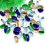 Piedras de acuario Pebbles Piedras de paisajismo para Peceras, Piedras decorativas Piedras de Cristal, Multicolores Decorativas para Peceras, Macetas, Jardinería, Patio, 500g (70 Piezas)