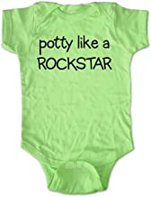 Potty like a Rockstar - funny baby one-piece Infant Clothing (6 Months One-Piece, Key Lime Green)