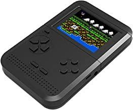 Glumes Game Console Game Console 2.6 Inch 300 Games Retro Game Player Classic Game Console 1 USB Charge, Birthday Presents for Children Retro Mini Handheld Video Game Console Gameboy