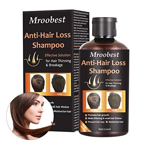 Haarshampoo, Haarwachstums Shampoo, Anti-Haarverlust Shampoo, Effektiv gegen Haarausfall, Regenerierend, Wachstumsfördernd, Behandlung für Haar, Wachstum für Damen & Herren - 220ml