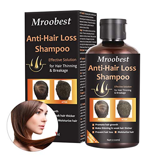 Anti-Hair Loss Shampoo, Hair Growth Shampoo, Effective Solution for Hair Thinning & Breakage, Helps Stop Hair Loss, Grow Hair Fast, Hair Loss Treatment for Men & Women(220mL)