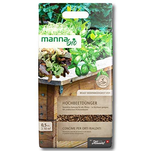 Hauert Manna Bio Hochbeetdünger 0,5 KG Légumes, Herbes, Salade