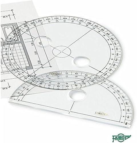 precios al por mayor Faibo Círculos y semicírculos para dibujo técnico técnico técnico (15 cm.)  Envío 100% gratuito